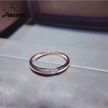 Ani 18k розовое золото (au750) обручальные женские кольца сертифицированные