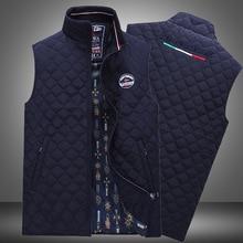Brand Men's Cotton padded Thicken Waistcoat Autumn Casual Jacket Sleeveless Vest High quality shark winter cotton stand collar