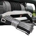 15 м 10000LBS синтетическая лебедка веревка леска восстановление кабель для ATV SUV Грузовик Лодка лебедка серый буксировочный трос