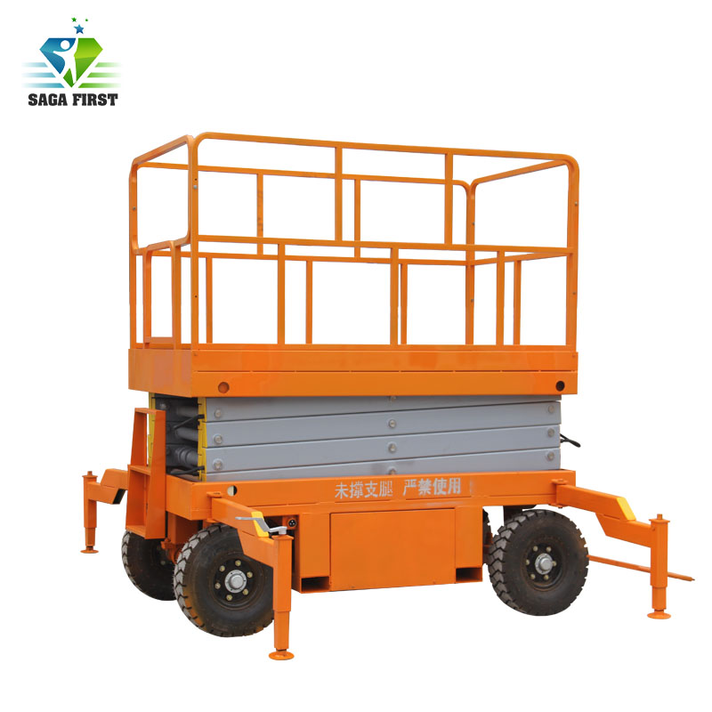 SINOFIRST Hydraulic Mobile Scissor Lift Table 500kg