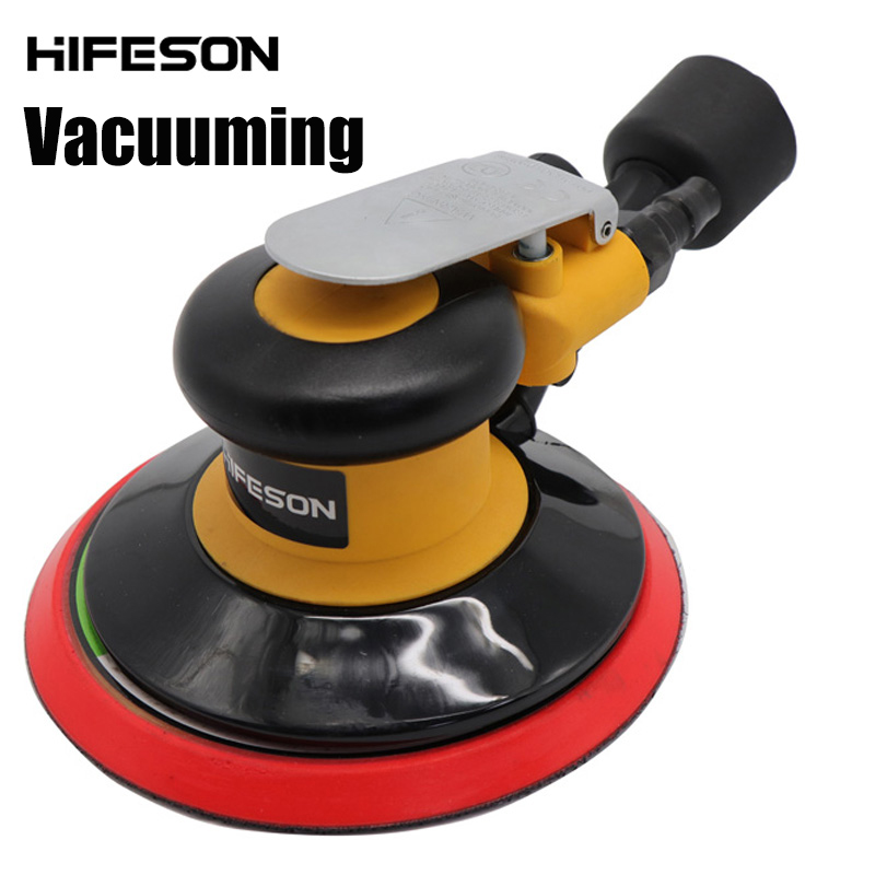 Pneumatic Air Sander Polisher-with Vacuuming 6'' 150mm Car Paint Care Tool Polishing Random Orbital Palm Machine Grinder