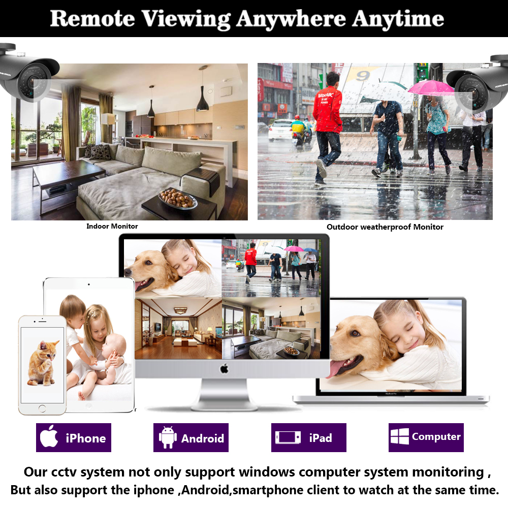 Image 5 - NINIVISION AHD CCTV System 16CH AHD 1080P CCTV DVR Kit HDMI 1080N 1200TVL IR Cameras Security System 16 channel CCTV NVR 1TB HDD-in Surveillance System from Security & Protection