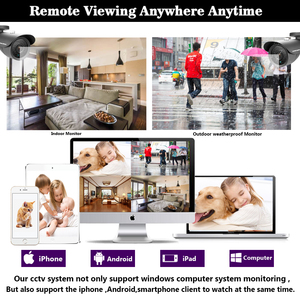Image 5 - NINIVISION AHD CCTV System 16CH AHD 1080P CCTV DVR Kit HDMI 1080N 1200TVL IR Kameras Sicherheit System 16 kanal CCTV NVR 1TB HDD