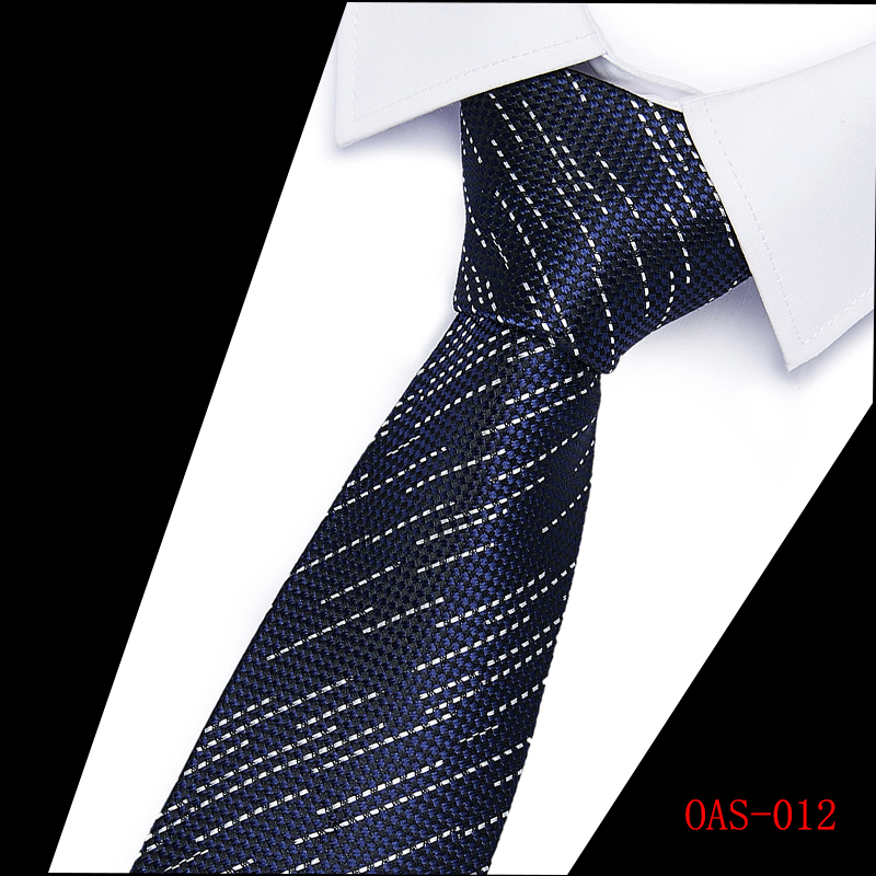 Luxury Blue Striped 6CM Men skinny tie Man Jacquard Wedding Party Silk ties hot