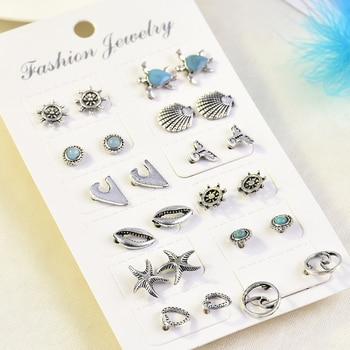 2019 Crystal Simulated Pearl Earrings Set Women Jewelry Accessories Piercing Ball Stud Earring Kit Bijouteria Brincos Wholesale 4
