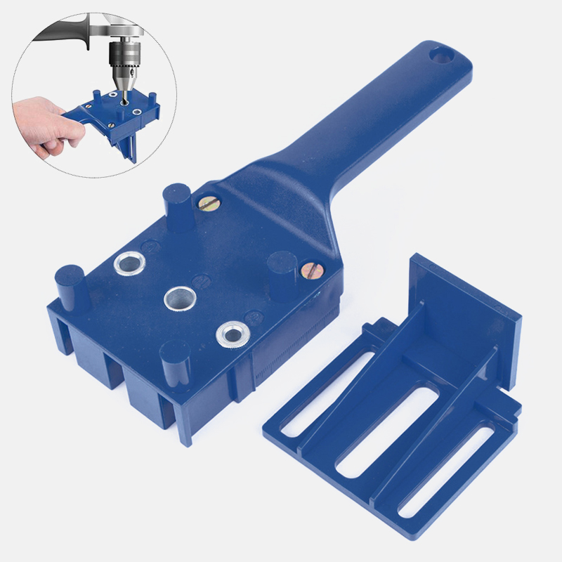6 8 10mm Woodworking Dowel Jig Fits  Drill Bits Wood Drilling Doweling Hole Saw Tools Handheld Drill Guide With Metal Sleeve