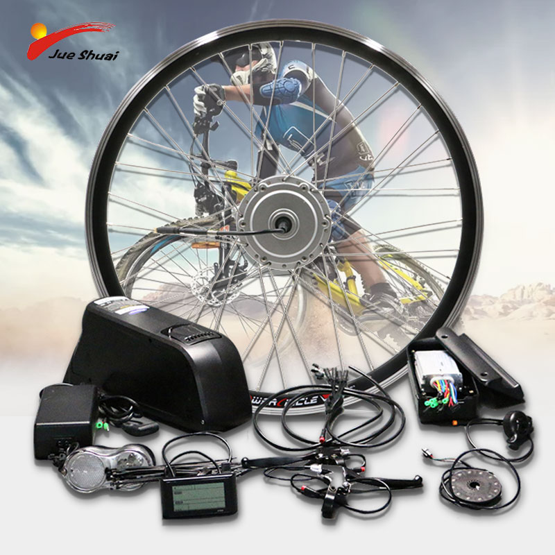 "48V 350W 500W Bafang Electric Bicycle Conversion Kit 26""700C Front Motor Wheel Brushless Hub Motor E Bike Kit with Battery"