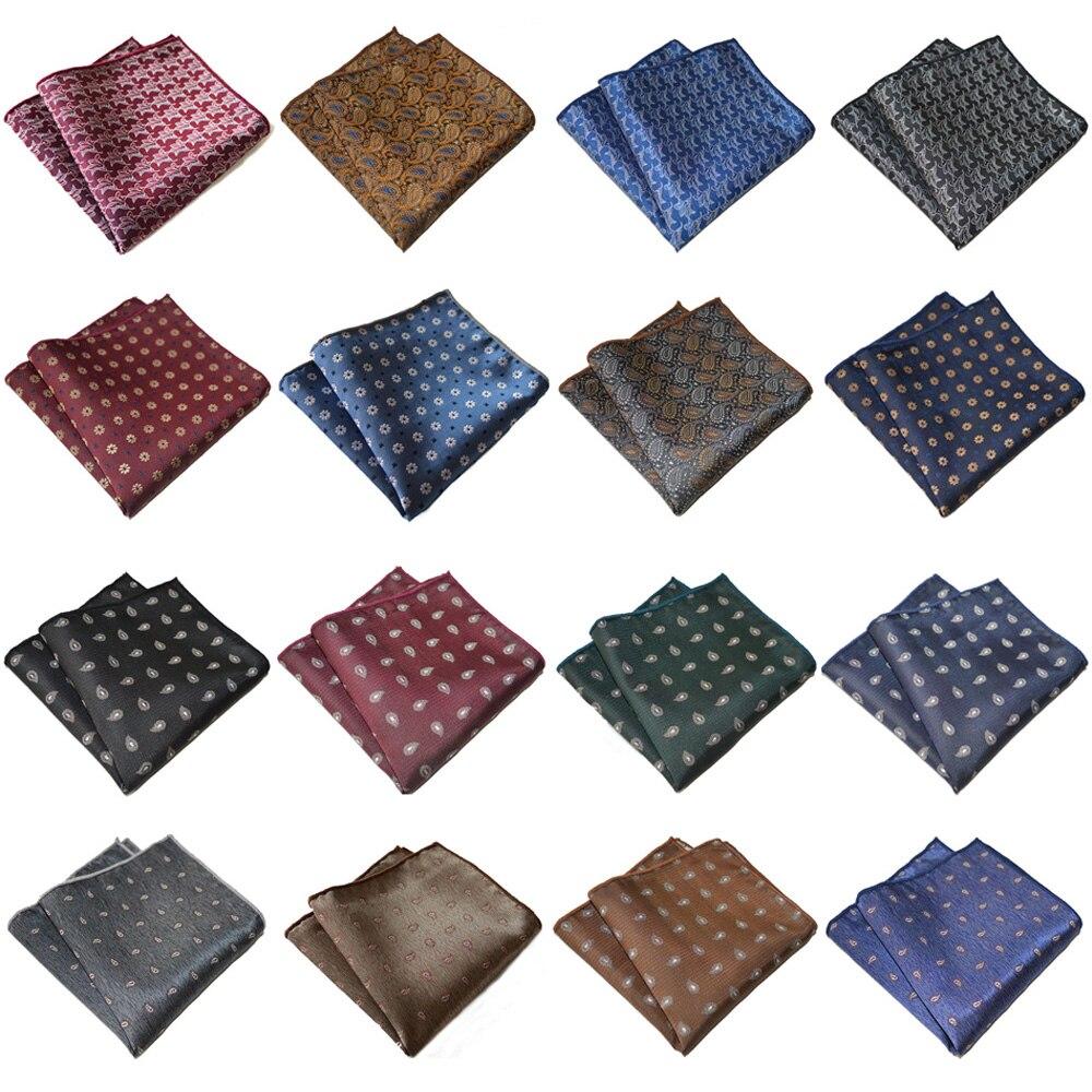 Mens Pocket Square Paisley Printed Hanky Wedding Party Accessory Handkerchief