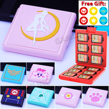 Cute Game Card Case for Nintendoswitch Animal Crossing New Horizons SD Cards NS Pink Shell Storage Box for Nintendo Switch/Lite