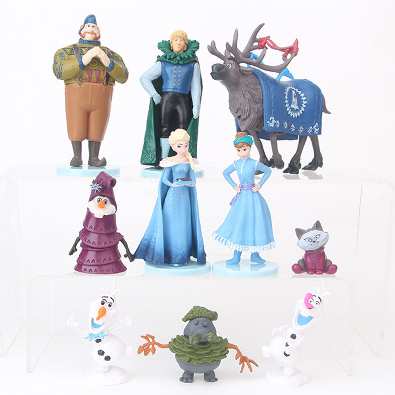 10 Pcs Snow carton model Action <font><b>Toy</b></font> <font><b>Figures</b></font> PVC action <font><b>figure</b></font> <font><b>anime</b></font> <font><b>figure</b></font> decoration doll kids <font><b>toys</b></font> for children image