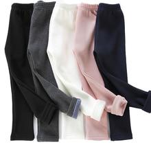 Girls Leggings Pants Trousers Warm Winter Children Cotton New Thick Elastic-Waist