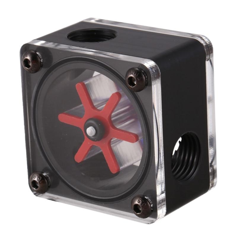 Computer water cooling radiator aluminum alloy water flow meter G1//4 thread
