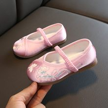 Toddler Children Boys Kids Shoes For Girl Baby Girl Kids Sneakers Princess Embroidery Floral Shoes Kids Trainers Sapato Infantil(China)