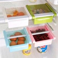 Kitchen Refrigerator Storage Box Food Container Fresh Spacer Layer Storage Rack Pull-out Drawers Fresh Sort Organizer недорого