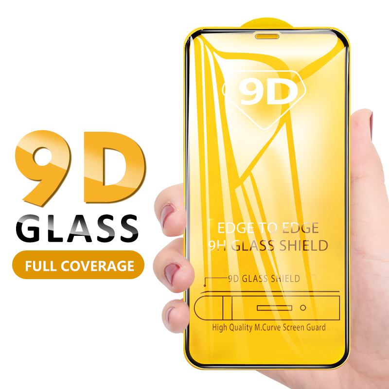 Curved 9D Screen Protector For IPhone 11 Pro Max X XS Max XR Full Cover Temperd Glass For IPhone 6 6S 8 7 Plus 11 Pro Max Glass
