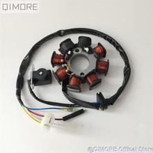 8 pole 4 drut podwójny zapłonu magneto stojan na 4 suwowy skuter motorower ATV QUAD gokart 139QMB 1P39QMB GY6 50 60 80 cc tanie tanio CN (pochodzenie) copper wire GY6-50-8