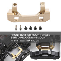 Front Bumper Mount Brass Material Servo Relocation Mount RC Car Spare Parts for 1/10 Traxxas TRX 4 RC Car
