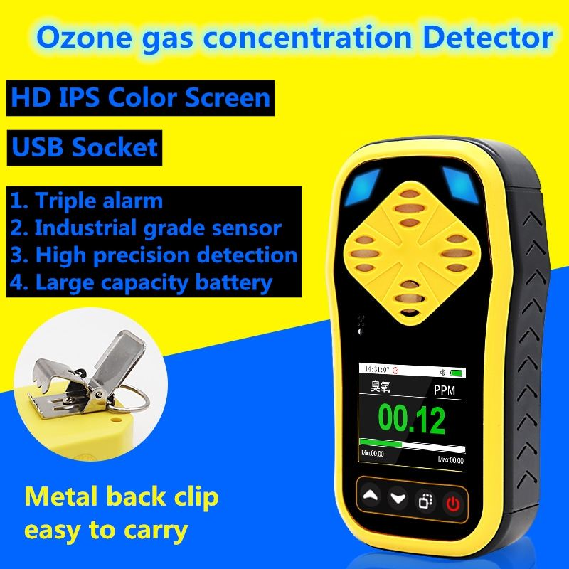 Air Ozone Detector USB Ozone O3 Meter Accurate Gas Leak Concentration Detector Portable Analyzer Monitor Alarm Professional