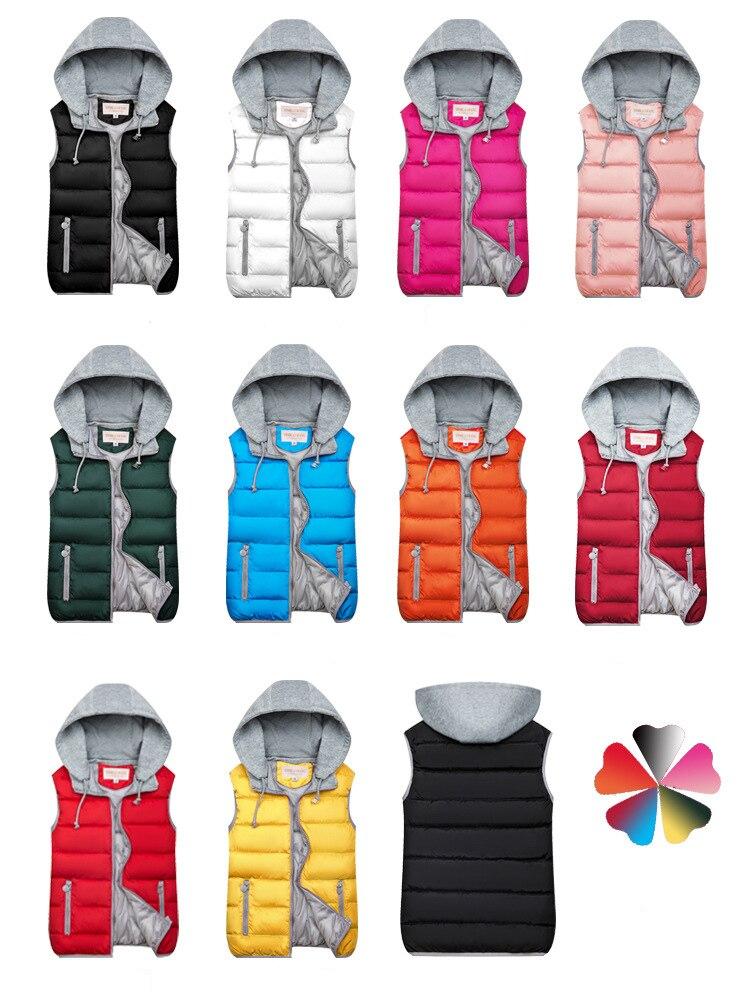H9037e73035be4e27bbad1044091cb42fG 2019 Winter Coat Women Hooded Warm Vest Plus Size Candy Color Cotton Jacket Female Women Wadded Feminina chalecos
