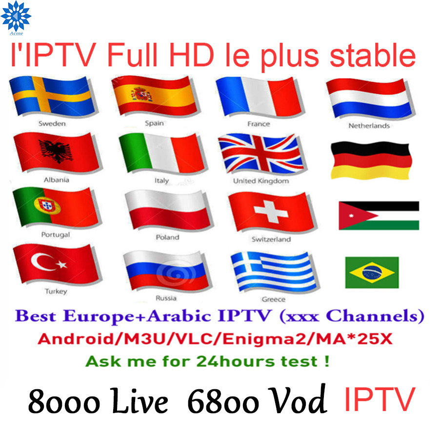Super Iptv Subscription World M3u Enigma For Android PC Europe UK Germany ItalyDrance Netherlands Iptv Albania Free Test 1Year