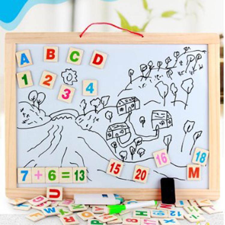 Large Size Double-Sided Hanging Sketchpad Children Multi-functional Magnetic Drawing Board Early Childhood Educational Toy