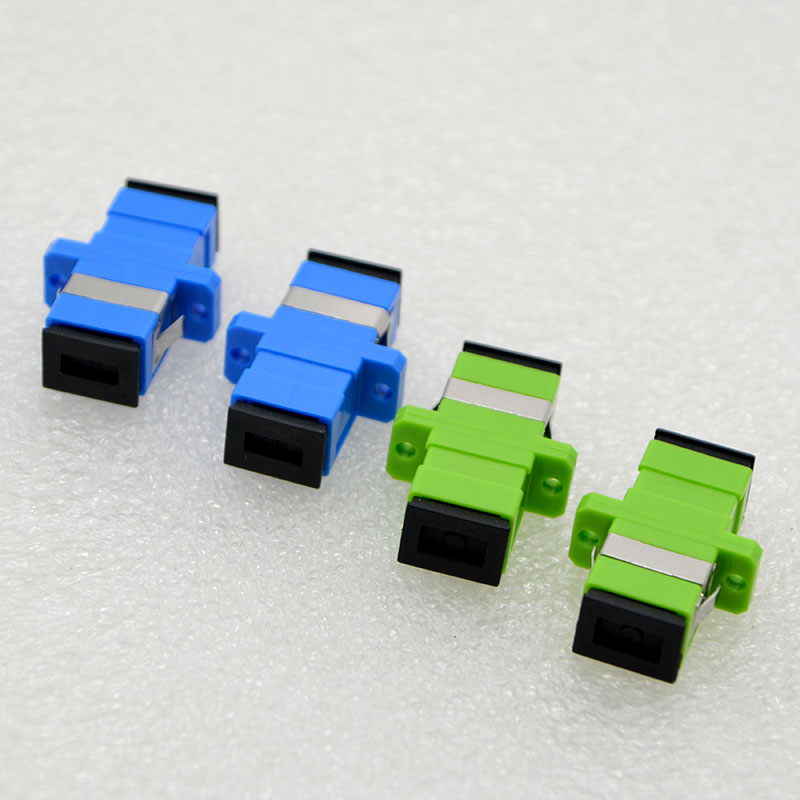 10PCS New SC/UPC/APC Single Mode Optical Fiber Connector Flange Head Coupler Square Joint Adapter Special Free Shipping