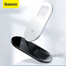 Baseus 2 in1 kablosuz şarj hızlı şarj iPhone 11 Pro Max Airpods Samsung S10 Huawei 15W Qi hızlı kablosuz şarj cihazı