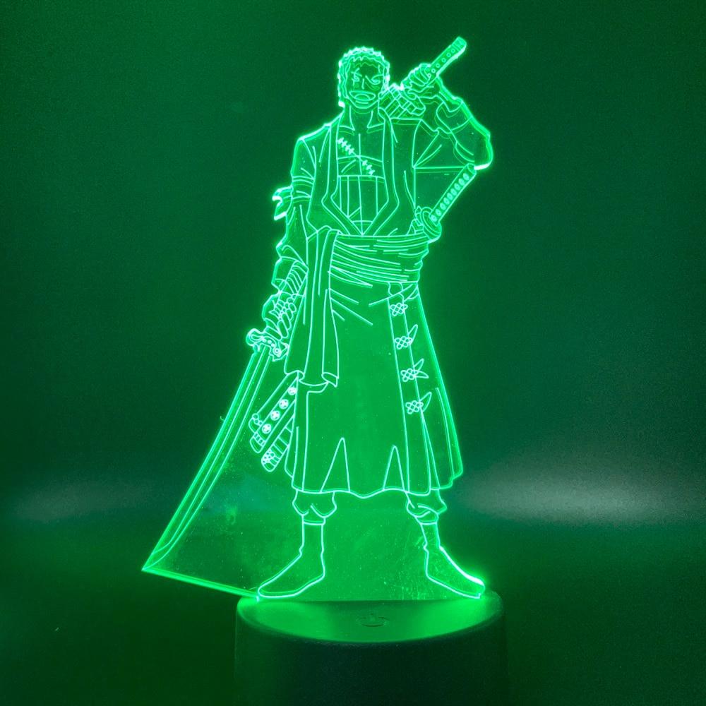 One Piece Miles Sunshine Lamp 3D Visual Led Lights Para Ni/ños Touch Usb Table As Baby Sleeping Nightlight Usb 3D Led Light