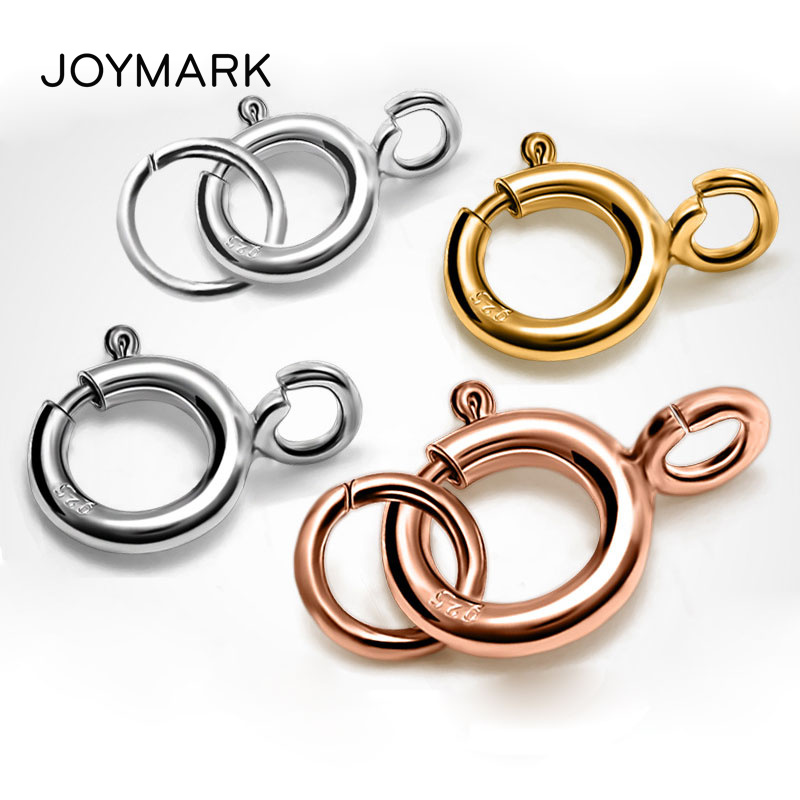 SILVER METAL COLOUR,JEWELLERY CLASP PACK OF 5 OR 10 6MM SPRING RING CLASPS