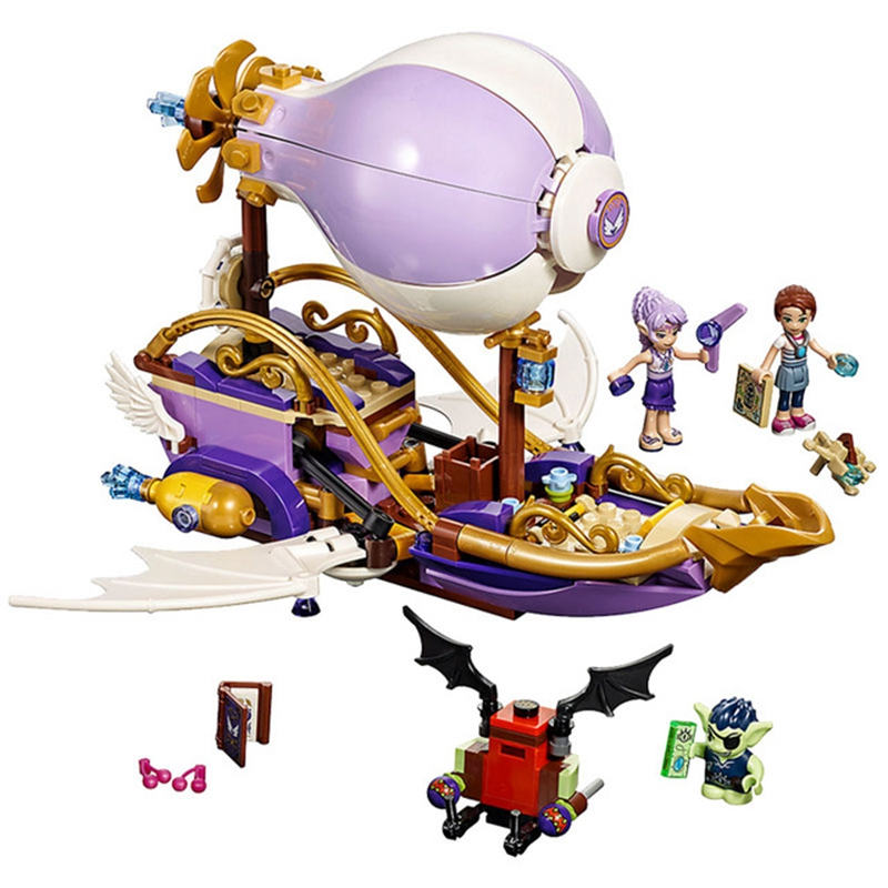 Girl Friends Series <font><b>10696</b></font> Elves Aira's Airship The Amulet Chase Building Blocks Toys Model Compatible With Legoinglys 41184 image