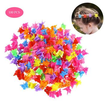 100 PCS Butterfly Hair Clips Beauty Tools Assorted Color Beautiful Butterfly Hair Clips for Girls Women Hair Styling Accessories 1