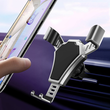 Universal Car Phone Holder For Phone In Car Air Vent Mount Stand No Magnetic Mobile Holder For iPhone Smartphone Gravity Bracket universal gravity air vent mount gps stand car phone holder bracket supplies gravity car holder for phone in car air vent clip m