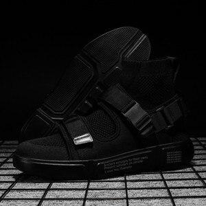 Image 2 - 2019 nouveaux hommes chaussures décontractées hommes mode baskets lumière tendance lumière marche chaussures homme travail chaussures haute qualité Sneaker marque chaussures plates