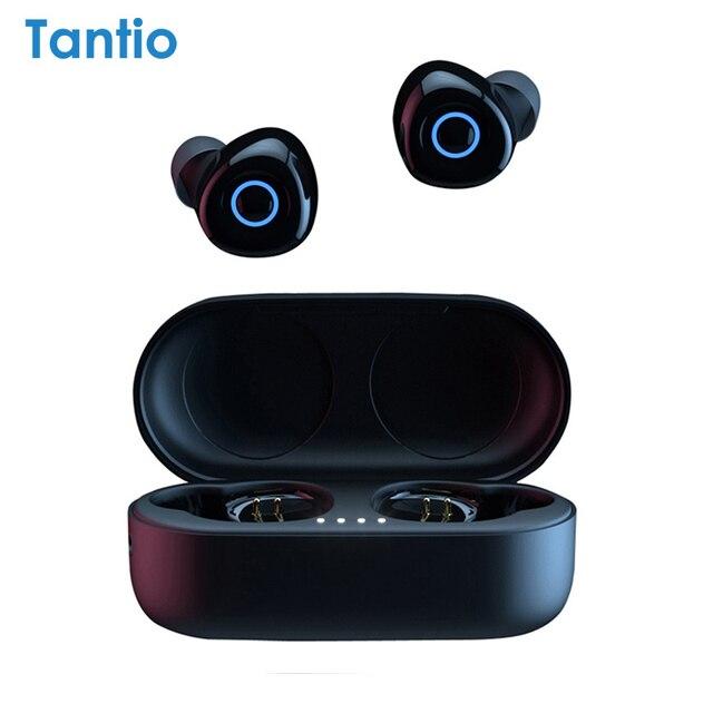 Настоящие беспроводные наушники T1, Bluetooth наушники Премиум звук со светодиодным индикатором/Smart Touch/микрофон/водонепроницаемый/ремешок