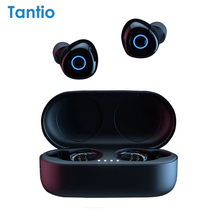 אמיתי אלחוטי אוזניות T1, bluetooth אוזניות פרימיום קול עם LED חיווי/חכם מגע/מיקרופון/עמיד למים/שרוך
