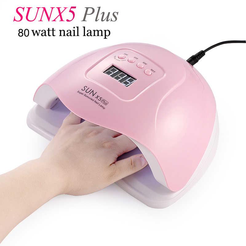 lámpara de potencia Secador UV de doble hielo uñas de vfgyYb76