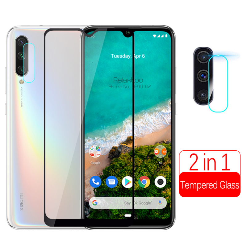 2 In 1 Camera Tempered Glass For Xiaomi Mi A3 Phone Screen Protector On Xiomi Xaomi Mi A3 A 3 3a Xiaomia3 Lens Protective Film