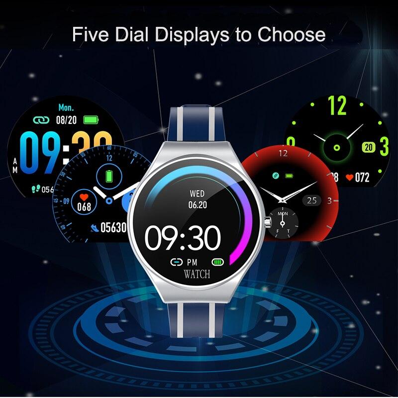 Smart Watch Men Women IP67 Waterproof Sport Tracker Heart Rate Blood Pressure Touch Screen App Fitness Wristwatch LIASIDI TD26