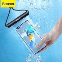 Baseus-funda de teléfono impermeable para iPhone, funda de protección Universal a prueba de agua, compatible con modelos 12, 11 Pro Max, Samsung, Xiaomi y Swim