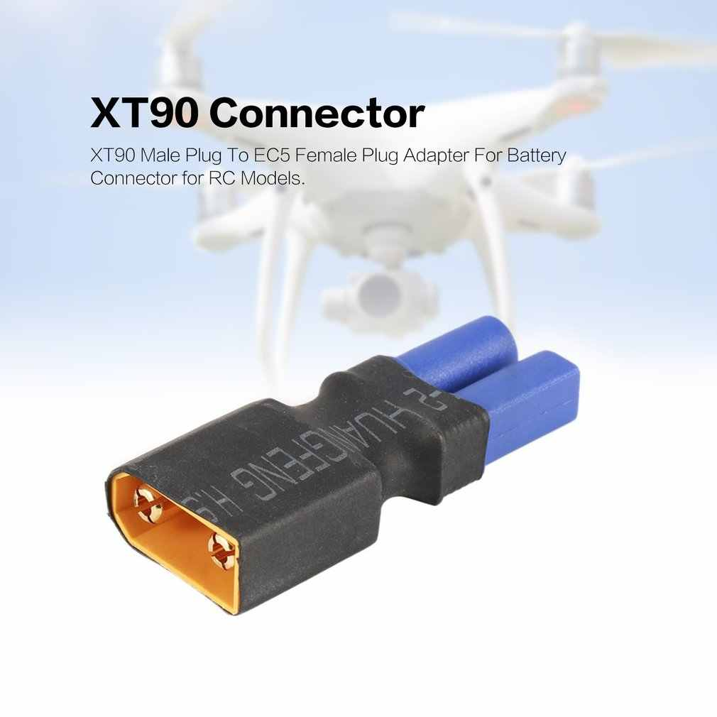 2019 XT90 ذكر التوصيل إلى T/EC5 أنثى محول القابس لبطارية ليبو موصل ل RC نماذج هليكوبتر بدون طيار كوادكوبتر اللعب أجزاء
