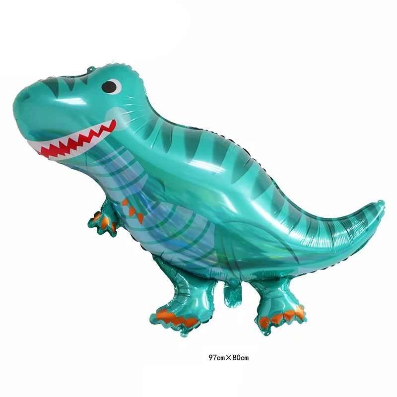 1pcs Grande Dinossauro meninos animais balões balão foil para crianças azul verde dinossauro jurassic decorações da festa de aniversário balão balão de Brinquedo
