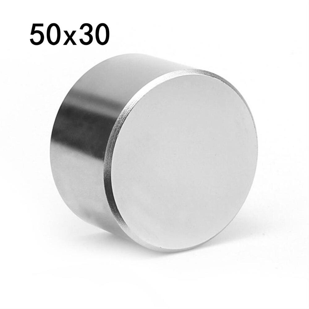 1PC N52 Neodym Magnet 50*30MM Super Starke Leistungsstarke Runde Block Rare Earth Magnete 40*20MM Magnetische Imanes