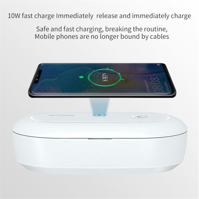 Ultraviolet disinfection <font><b>box</b></font> mobile phone wireless fast charger portable multifunctional aromatherapy sterilization <font><b>box</b></font> image