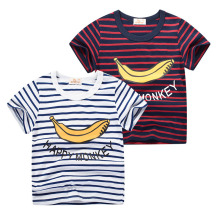 Children T Shirts 2019 Fashion Cotton Striped Boys Girls T-Shirts Kids Cartoon Print Baby Child Tops Clothing