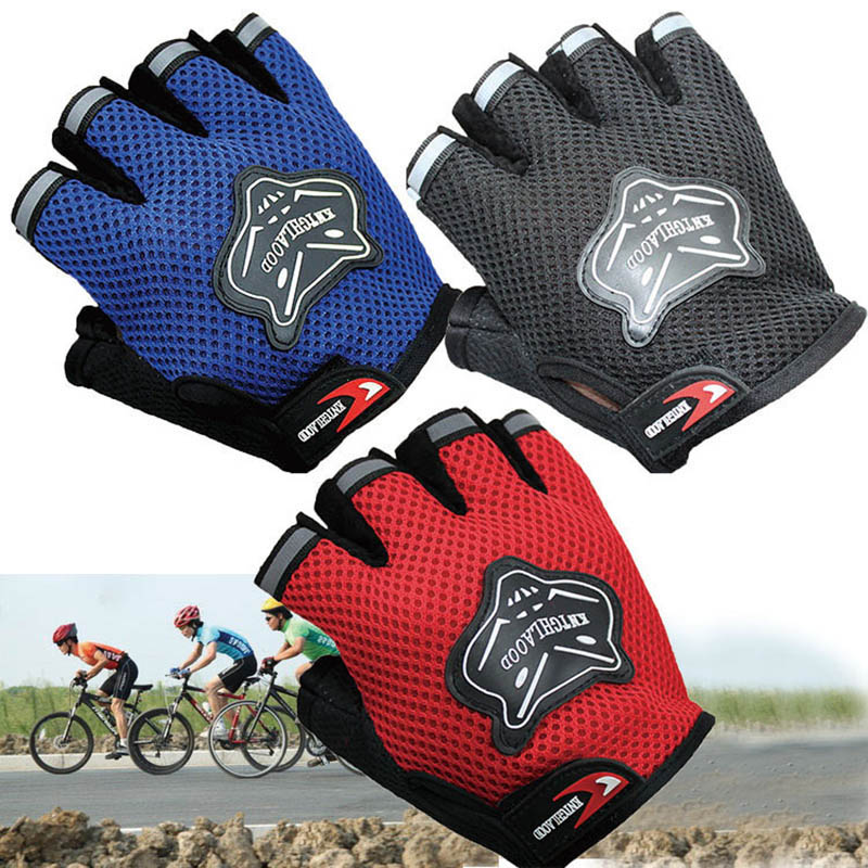 Children Kids Bike Gloves Half Finger Breathable Anti-slip For Sports Riding Cycling LXH