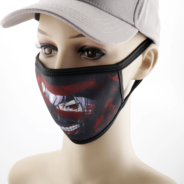 Anime Printed Mask Naruto/Tokyo Ghoul/Attack on Titan Mask Reusable Face Shield Breathable mask 2