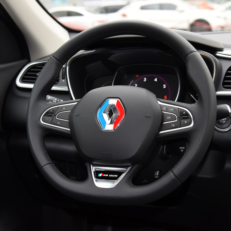 Car Accessories New 3D Steering Wheel Silicone Sticker Case For Renault Koleos 2017 Car Styling