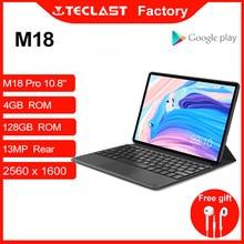 Mais novo tablet teclast m18 deca núcleo 10.8 Polegada ips 2560 × 1600 resolução 4gb ram 128gb rom 13mp 5mp traseiro frente 4g rede chamada