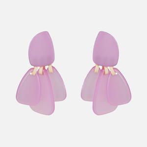 Ztech фиолетовые серьги ручной работы 2019 женские трендовые висячие серьги в стиле барокко большие эффектные серьги Свадебные вечерние ювелирные изделия подарок