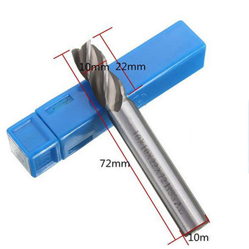 HSS-AL Straight Shank 4 Flute Super Tough Metal End Processing Mill Cutter Drill